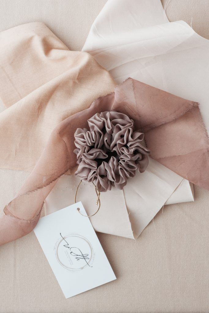 Silk Hair Scrunchie - Cappuccino
