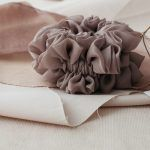 Silk Hair Scrunchie - Cappuccino