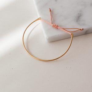 Gold Luna Bracelet - Soft Pink