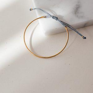Gold Luna Bracelet - Grey