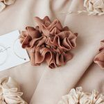 Silk Hair Scrunchie - Caramel