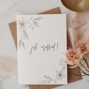 """Floral Wedding"" Hand-painted Greeting Card"