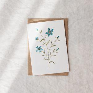 """Fiori di Lino"" Hand-painted Greeting Card"