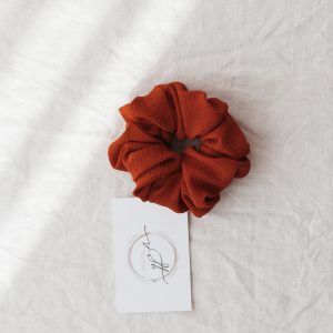 Classic Hair Scrunchie - Terracotta