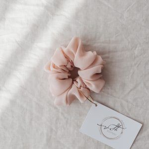 Classic Hair Scrunchie - Blush