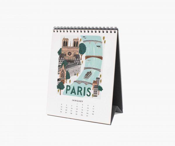 "Rifle Paper Co. 2020 ""World Traveler"" Desk Calendar"