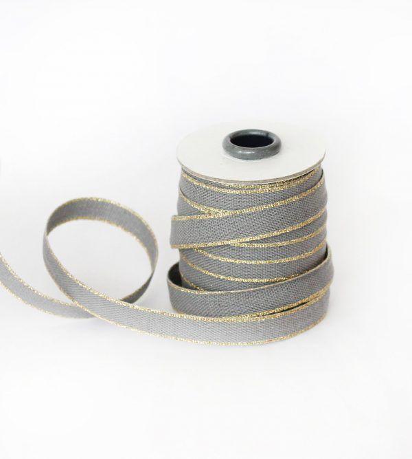 Studio Carta Drittofilo Cotton Ribbon - Gravel & Gold