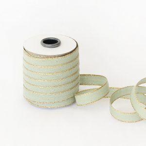 Studio Carta Drittofilo Cotton Ribbon - Sage & Gold