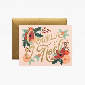 "Rifle Paper Co. ""Joyeux Noël"" Christmas Card"