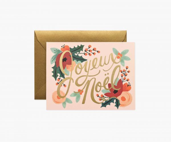 "Rifle Paper Co. ""Joyeux Noël"" Christmas Card"