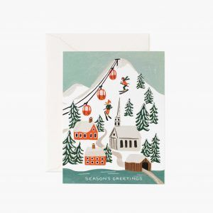 "Rifle Paper Co. ""Holiday Snow Scene"" Christmas Card"