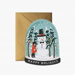 "Rifle Paper Co. ""Snow Globe"" Christmas Card"