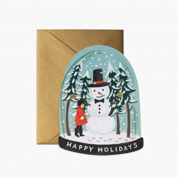 "Rifle Paper Co. ""Snow Globe"" Christmas Card"
