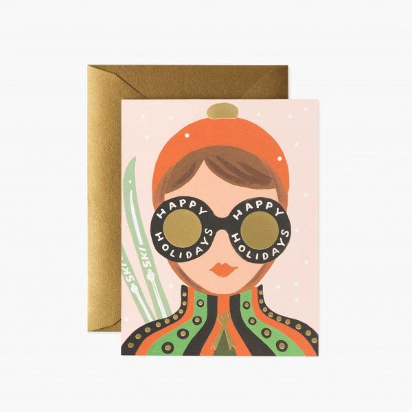 """Rifle Paper Co. """"Ski Girl"""" Christmas Card"""