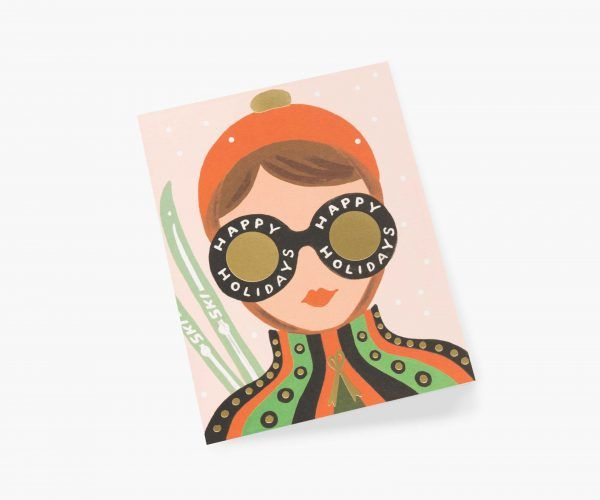 "Rifle Paper Co. ""Ski Girl"" Christmas Card"