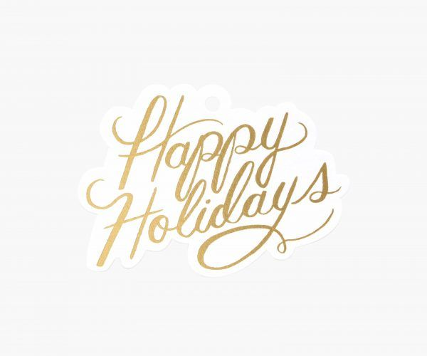 """Rifle Paper Co. """"Happy Holidays"""" Gift Tags"""