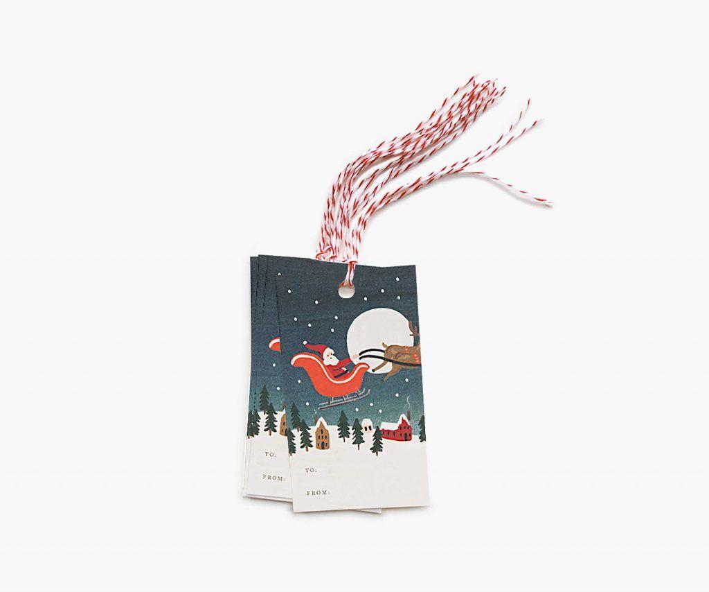 "Rifle Paper Co. ""Santa's Sleigh"" Gift Tags"