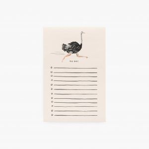 """Rifle Paper Co. """"Ostrich"""" To-Do List Notepad"""