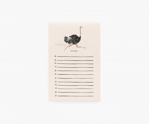 "Rifle Paper Co. ""Ostrich"" To-Do List Notepad"