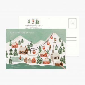 "Rifle Paper Co. ""Holiday Snow Scene"" Christmas Postcard"