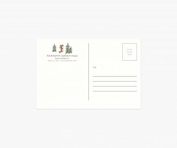 "Rifle Paper Co. ""Holiday Snow Scene"" Christmas Postcard"