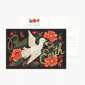 "Rifle Paper Co. ""Peace on Earth"" Christmas Postcard"