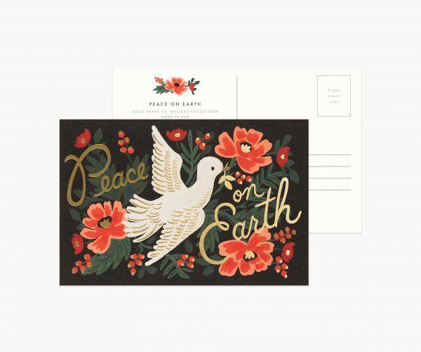 "Rifle Paper Co. ""Peace on Earth"" Christmas Postcard"