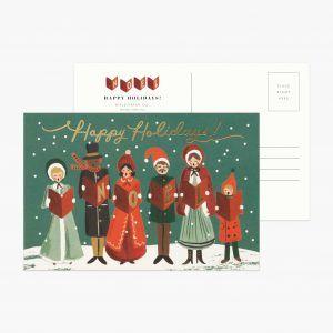 "Rifle Paper Co. ""Carolers"" Christmas Postcard"