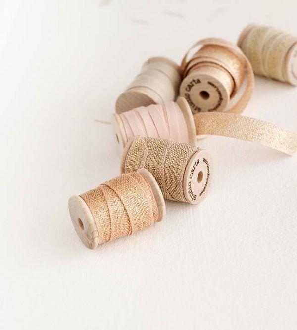 Studio Carta Metallic Loose Weave Cotton Ribbon