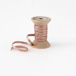Studio Carta Metallic Braided Ribbon - Rose Gold
