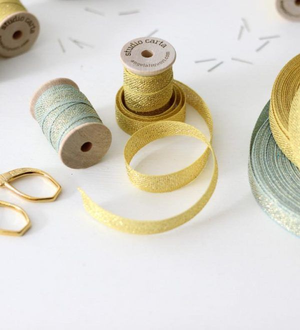 Studio Carta Metallic Loose Weave Cotton Ribbon