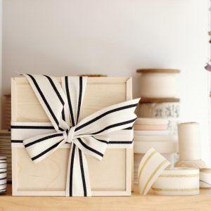 Studio Carta Striped Cotton Ribbon - Black