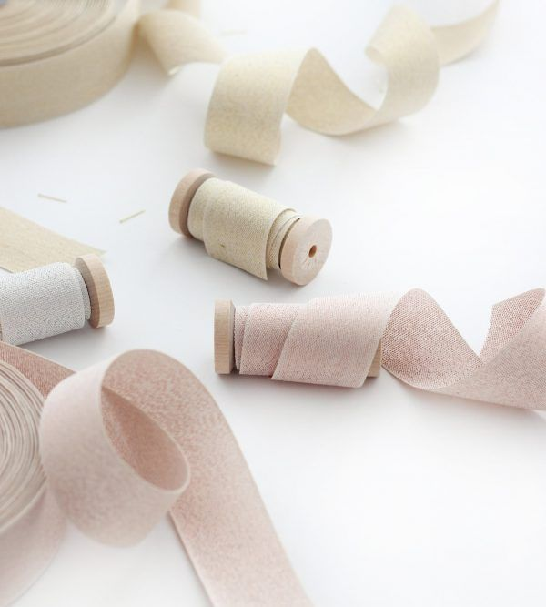 Studio Carta Wood Spool Metallic Woven ribbon