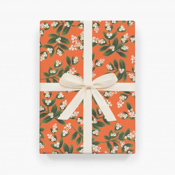 "Rifle Paper Co. ""Mistletoe"" Christmas Wrapping Paper Sheet"