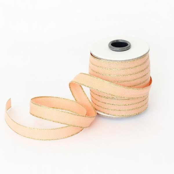 Studio Carta Drittofilo Cotton Ribbon - Peach & Gold