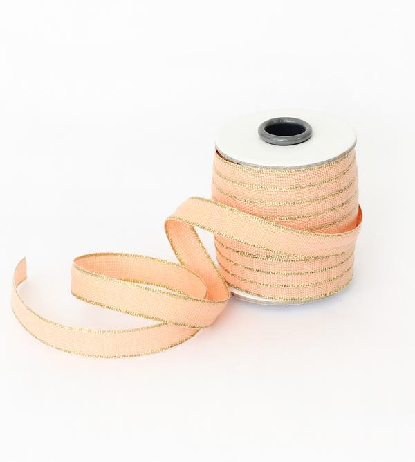 Studio Carta Drittofilo Cotton Ribbon - Peach & Gold