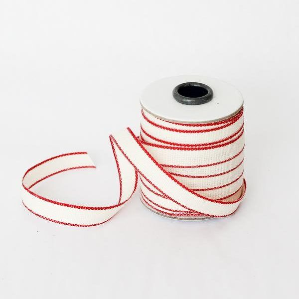 Studio Carta Drittofilo Cotton Ribbon - Natural & Red