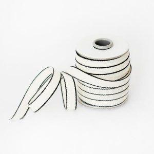 Studio Carta Drittofilo Cotton Ribbon - Natural & Black