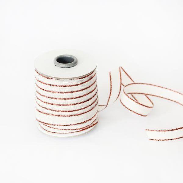 Studio Carta Drittofilo Cotton Ribbon - Natural & Copper