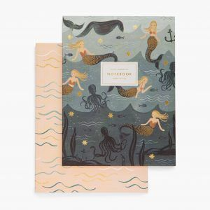 "Rifle Paper Co. ""Mermaid"" Set of 2 Notebooks"