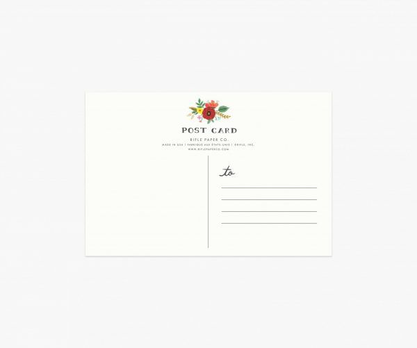 Rifle Paper Co. Bouquet Thanks Postcard