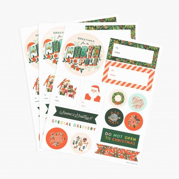 Rifle Paper Co. Christmas Gift Stickers