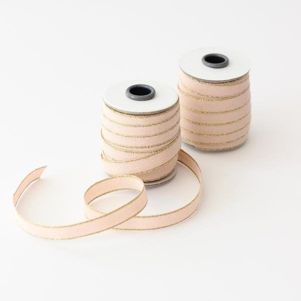 Studio Carta Drittofilo Cotton Ribbon - Blush & Gold