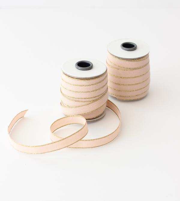 Studio Carta Drittofilo Cotton Ribbon - Blush & Gold