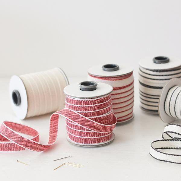 Studio Carta Drittofilo Cotton Ribbon - Red & White