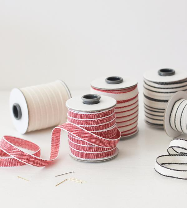 Studio Carta Drittofilo Cotton Ribbon - Red & White