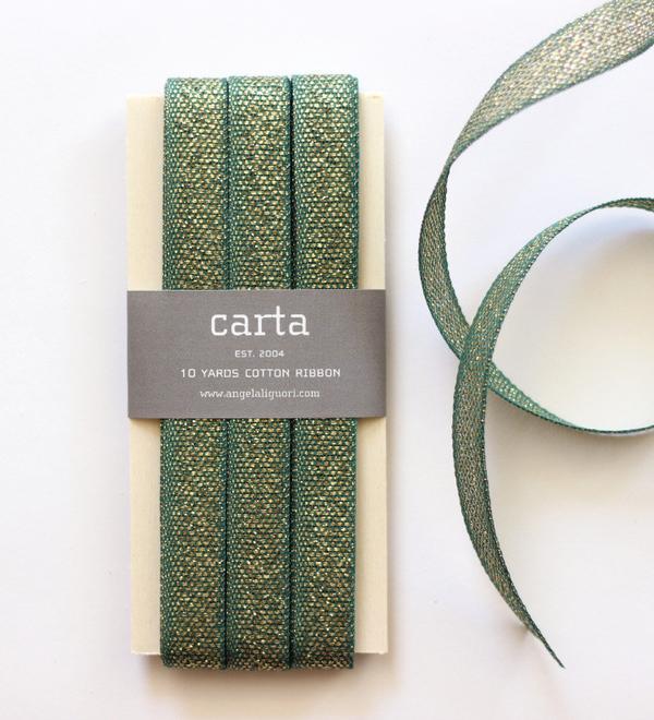 Studio Carta Metallic Loose Weave Cotton Ribbon paddle