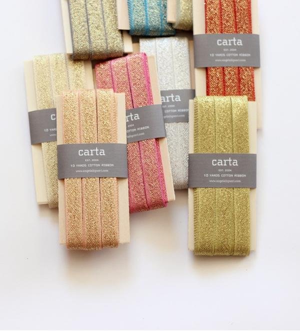 Studio Carta Metallic Loose Weave Cotton Ribbon paddle