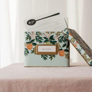 "Rifle Paper Co. ""Citrus Floral"" Tin Recipe Box"