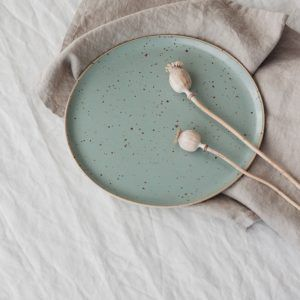 Marinski Handmade Ceramic Plate - Mint
